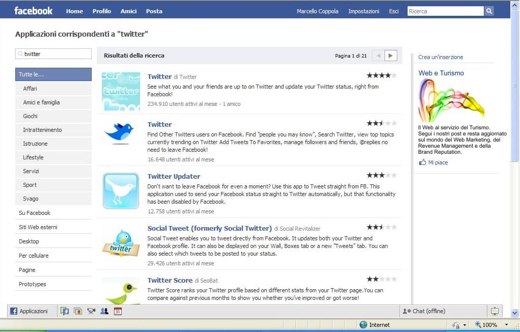 Plugin di Facebook per Twitter