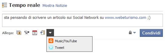 Integrazione di Facebook con Twitter