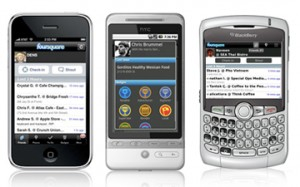 Esiste un'applicazione Foursquare per qualsiasi smartphone