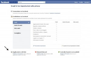 Cancellare applicazioni da Facebook