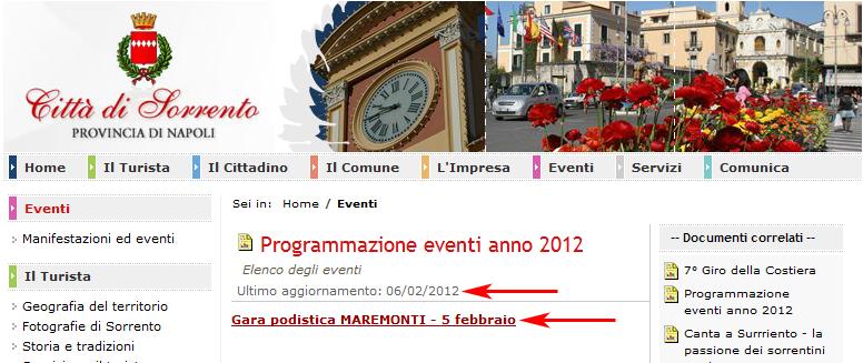 Programmazione eventi a Sorrento