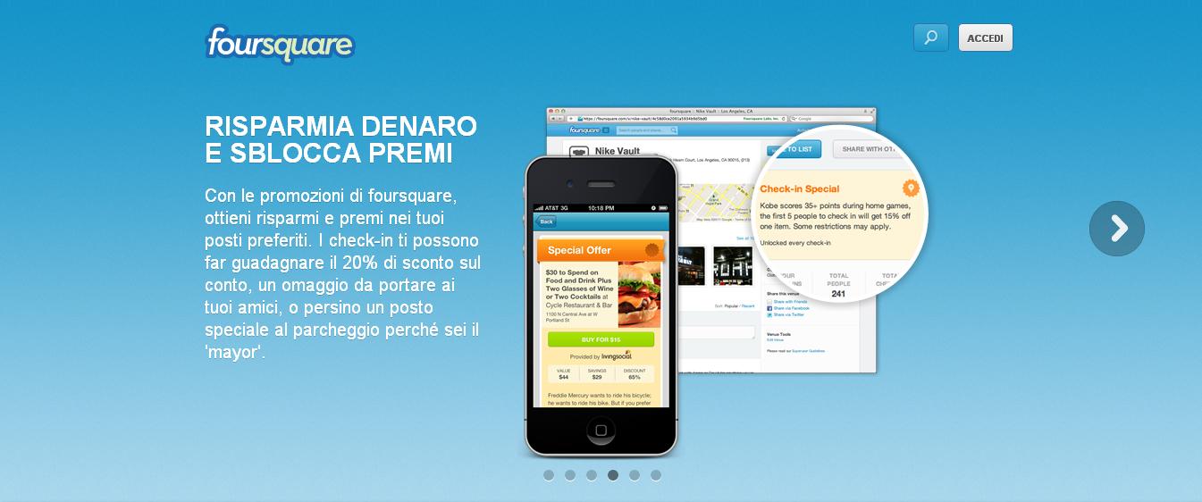 Fare marketing con Foursquare