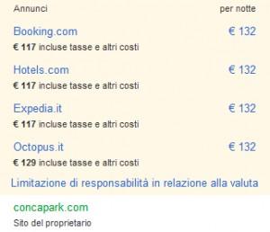 Comparazione tariffe in Google pagine locali