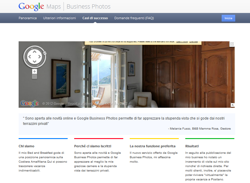 Hotel a Positano su Google Business Photo