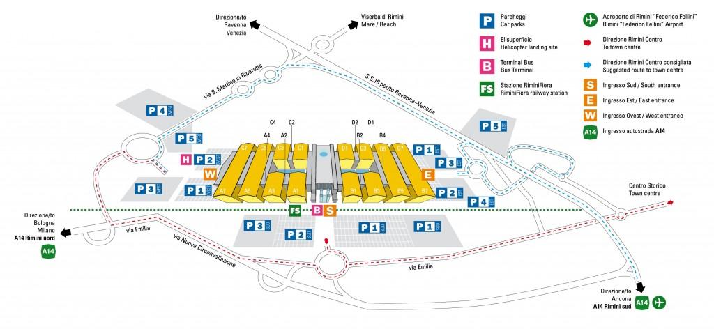 Mappa Rimini Fiera - TTG 2012