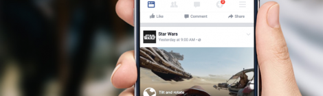 Continua il successo dei video: Facebook lancia i video a 360 gradi