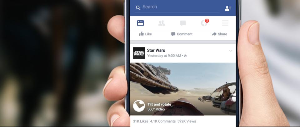 Video a 360 gradi su Facebook