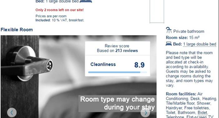 Camera flessibile: una fantastica novità di Booking.com