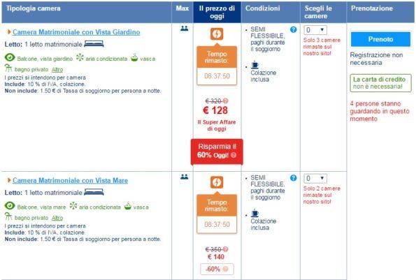Promozione offerta del giorno di Booking.com