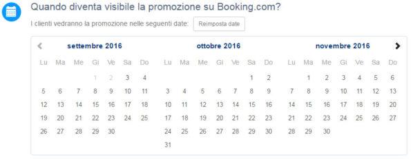 Quando diventa visibile la promozione su Booking.com?